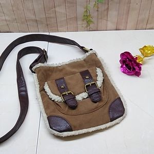 Chateau Man-made Suede & Leather Wooly Crossbody